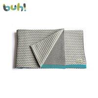 彌月寢具用品推薦到【BUHKIDS】西班牙針織羊毛嬰幼兒毯 - 碧藍灰就在babytiger推薦彌月寢具用品