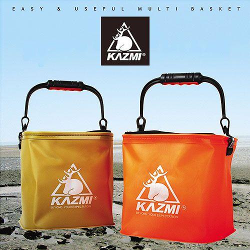 【露營趣】中和 KAZMI 多功能折疊水桶 摺疊水桶 釣魚桶 昆蟲盒 野營抓蝦釣魚洗碗儲物