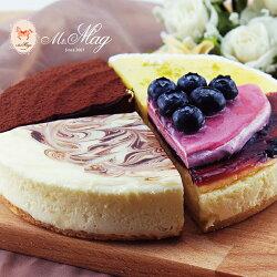 世界版6吋綜合乳酪改良版➤比利時百年嘉麗寶巧克力、嚴選進口藍莓、澳洲頂級乳酪,搭配奧斯卡指定品牌勒比藍莓果泥★四種口味的起士蛋糕,一場舌尖上的奢華