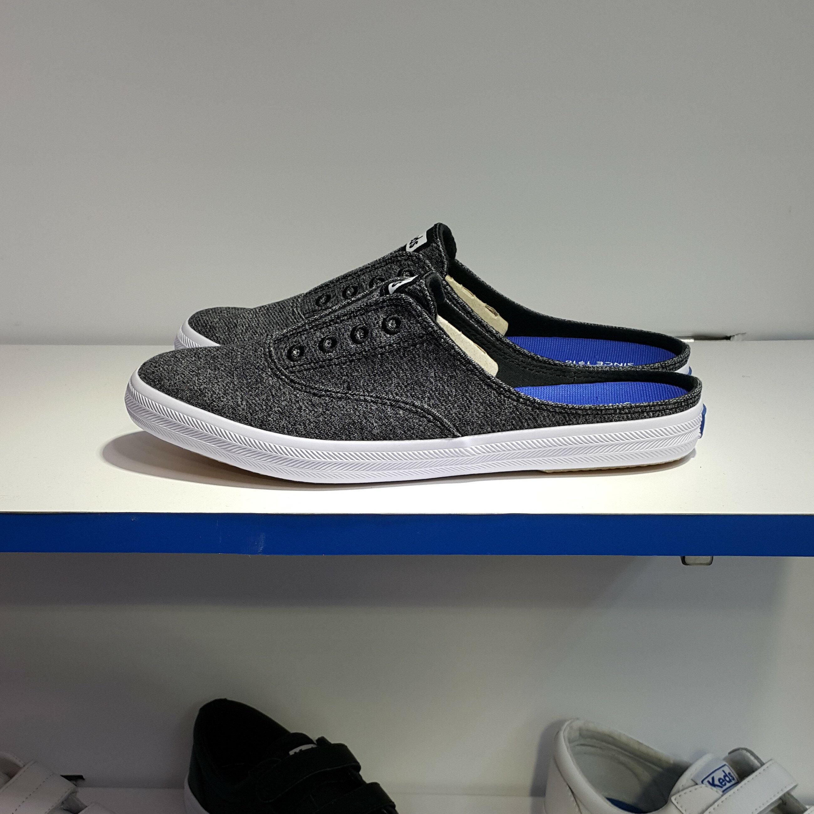 Keds 懶人鞋 拖鞋 便鞋 涼鞋 灰色 黑灰色 鬆緊帶 直接套 柔軟 鞋墊 MOXIE MULE STUDIO JERSEY