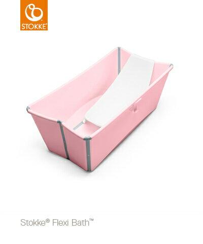 【特惠組】Stokke Flexi Bath 摺疊式嬰幼兒浴盆+浴盆架 0
