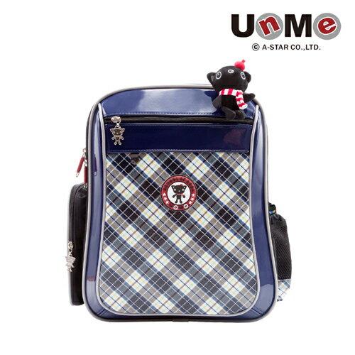 X射線 精緻禮品:X射線【C3214N】UnMe寬揹帶排汗後背書包(藍格)台灣製造,開學必備護脊書包書包後背包背包便當盒袋書包雨衣補習袋輕量書包拉桿書包