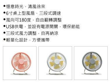 6吋鐵藝 USB可調速桌面風扇 (USB-FAN-50) 小型電風扇 立扇 桌用電風扇 電風扇 【迪特軍】