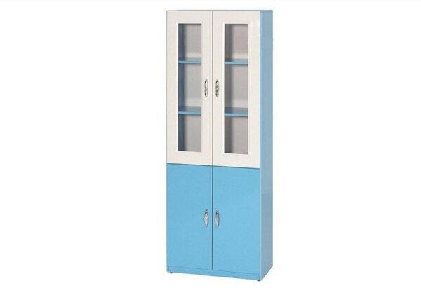 【石川家居】934-10藍色書櫃(下附一片隔板)(CT-913)#訂製預購款式#環保塑鋼P無毒防霉易清潔