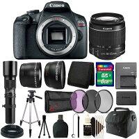 Canon EOS Rebel T7 Digital SLR Camera w/18-55mm + 500mm Lens Accessory Kit Deals