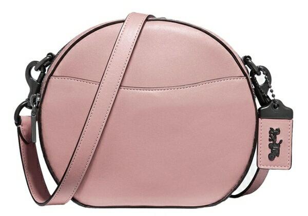 COACH 女士粉色皮革單肩斜挎包 F35844