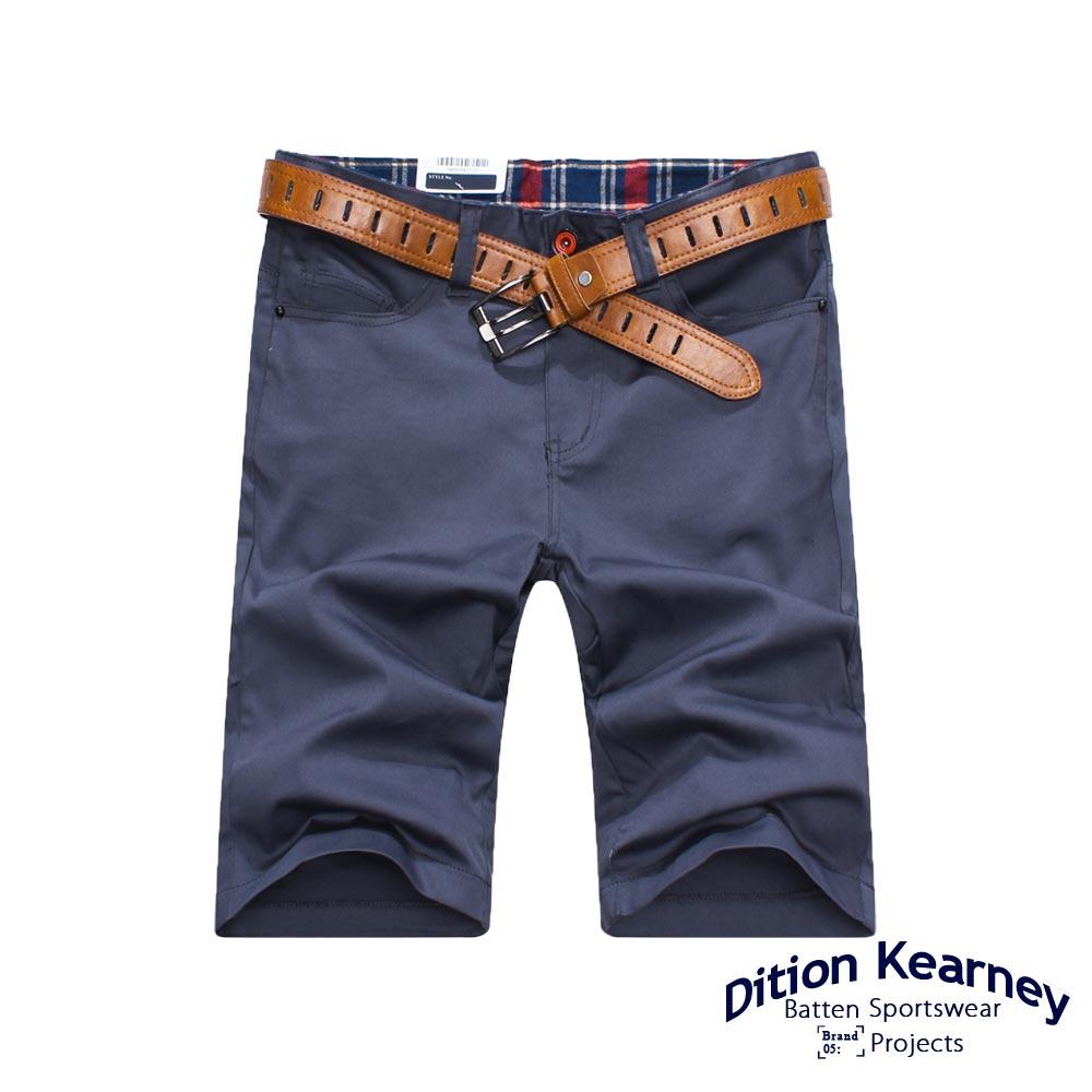 DITION 黑色卯釘格紋休閒短褲-共六色 有大尺碼 2