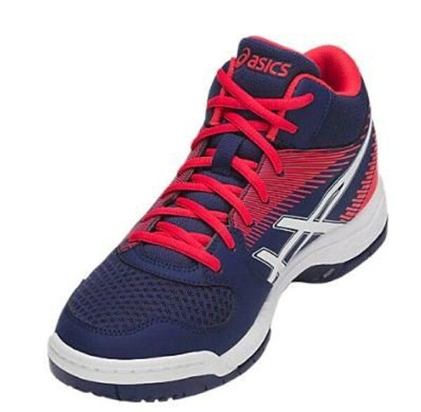 ASICS亞瑟士男排羽球鞋(藍紅)GEL-TASKMT緩衝.強抓地力排羽鞋款B703Y-400【胖媛的店】