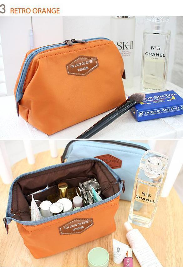 Travel Makeup Bag Cosmetic pouch Clutch Handbag 5