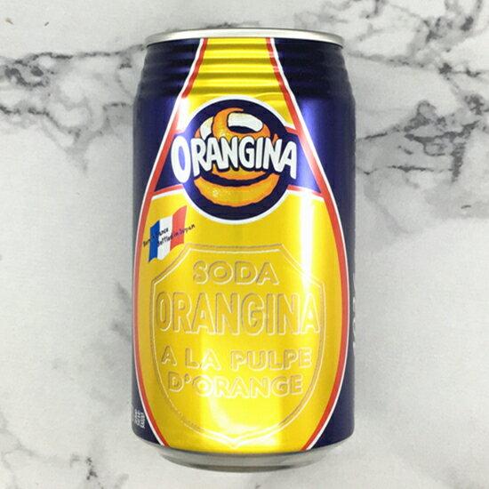 ORANGINA橘子風味碳酸飲料 340ml 果汁含量12%  サントリー オランジーナ 3.18-4 / 7店休 暫停出貨 0