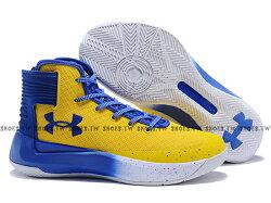 《下殺59折》Shoestw【1298308-700】UNDER ARMOUR CS 3 ZERO UA 籃球鞋 高筒  CURRY 勇士隊 黃藍 男生