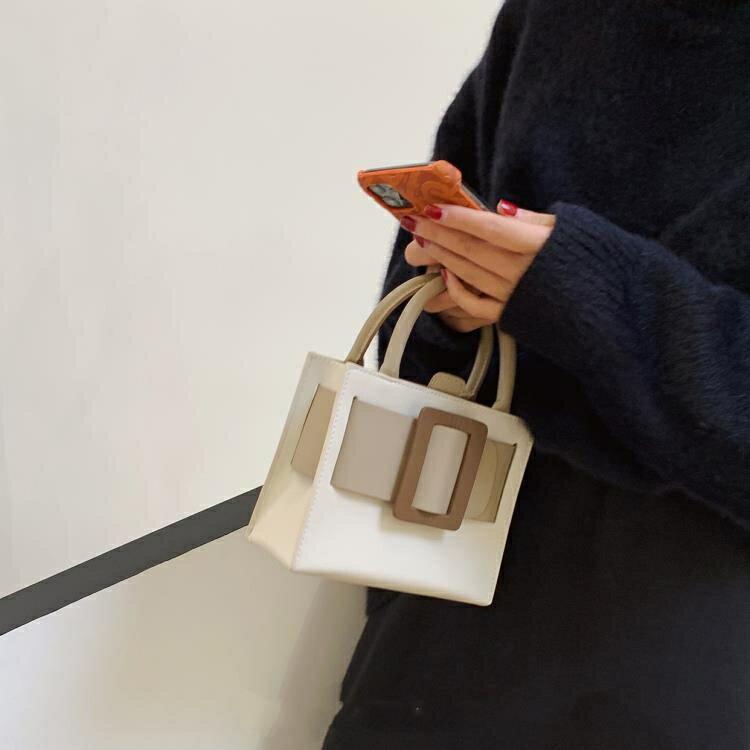托特包女 小眾設計包包 奶油蛋糕托特包手提包女小包包斜挎包女包新款2021 時尚學院0305