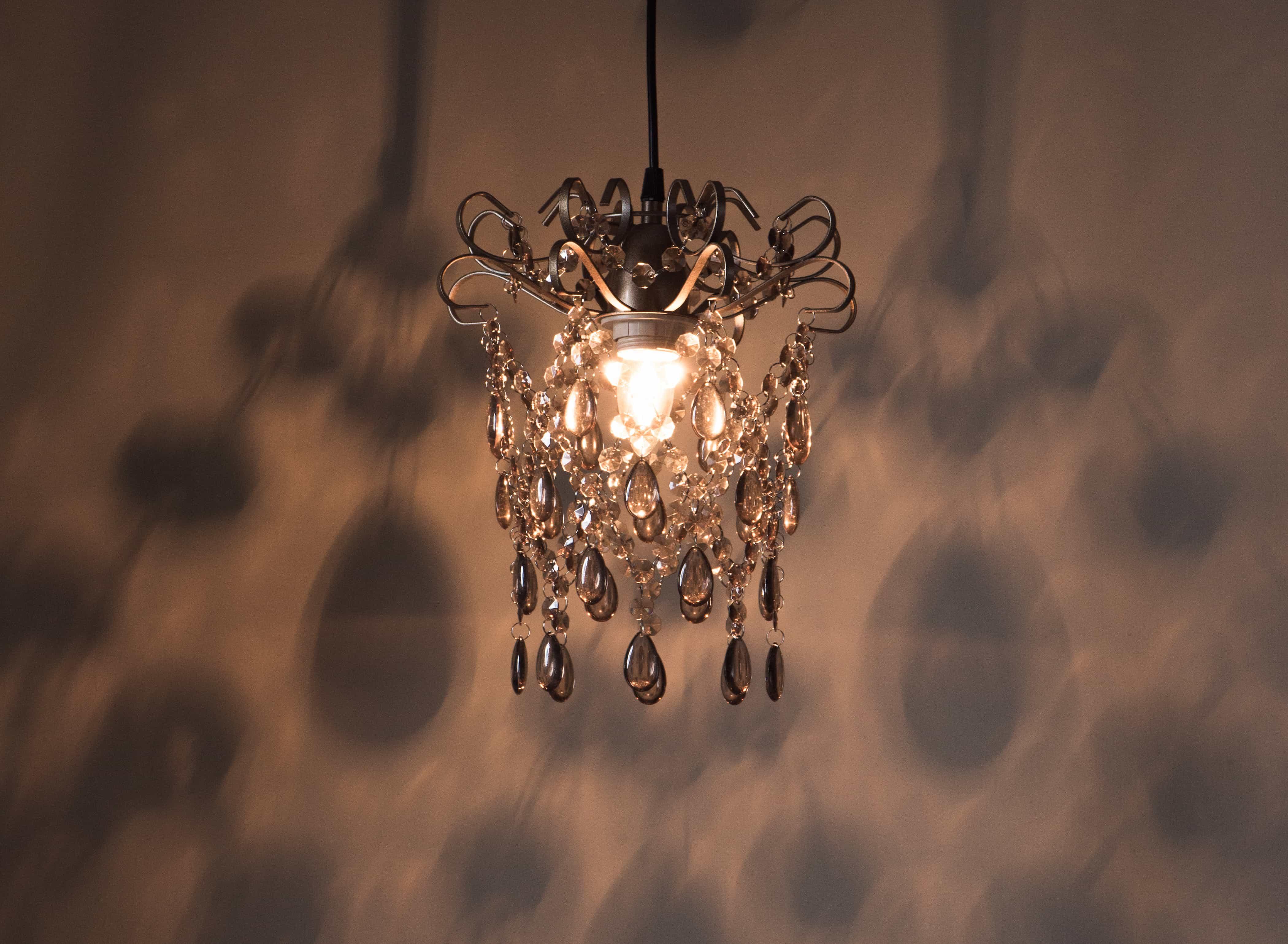 玫瑰金扁鐵框壓克力珠吊燈-BNL00049 6