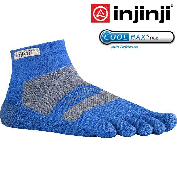 Injinji RUN 避震吸排五指短襪/跑步襪/路跑/馬拉松/越野跑/排汗透氣MW 1855 藍色
