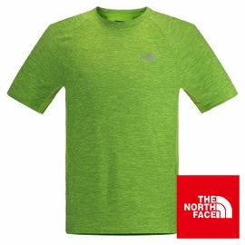 The North Face 男 FLASHDRY 短袖T恤 鸚鵡綠灰 CA2F