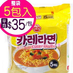 韓國不倒翁 百歲咖哩拉麵 泡麵 (袋裝5包入)[KR041B]