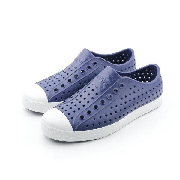 native JEFFERSON 懶人鞋 洞洞鞋 防水 雨天 深藍色 男鞋 女鞋 11100100-4201 no451