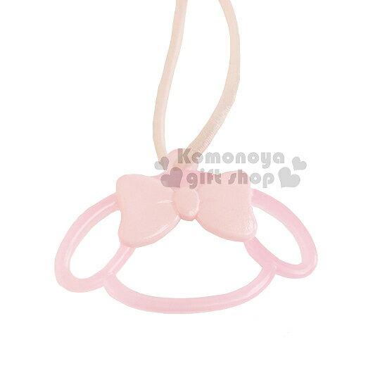 〔小禮堂〕美樂蒂 鏤空彈力髮束~粉蝴蝶結.粉大臉~髮圈