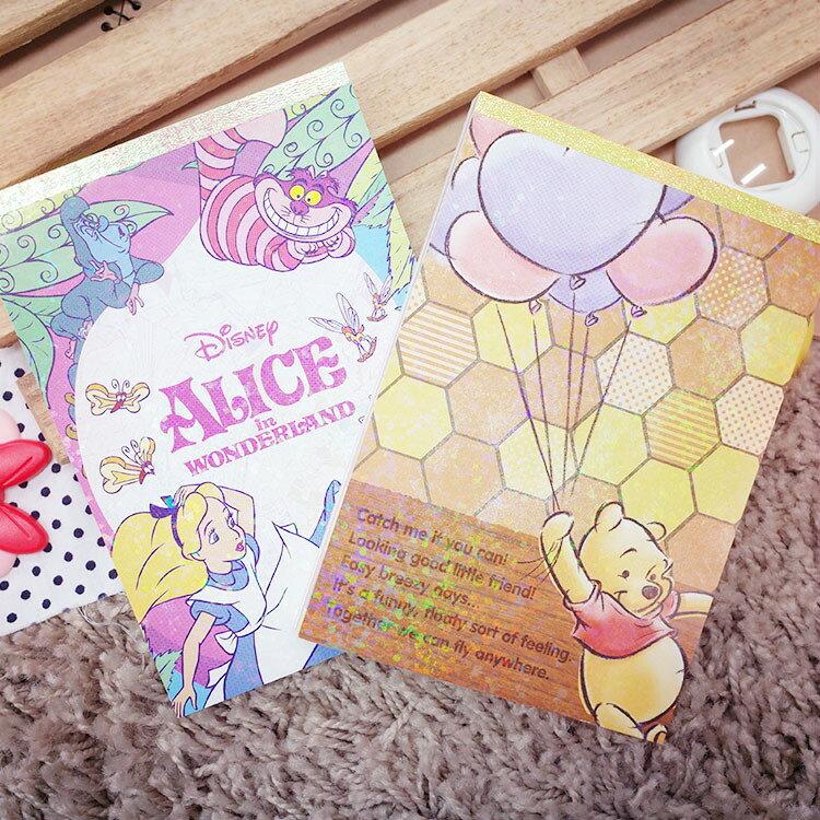 PGS7 日本迪士尼系列商品 - 日本 迪士尼 萬用 便條紙 本 小熊 維尼 Winnie 愛麗絲 Alice【SHJ7071】