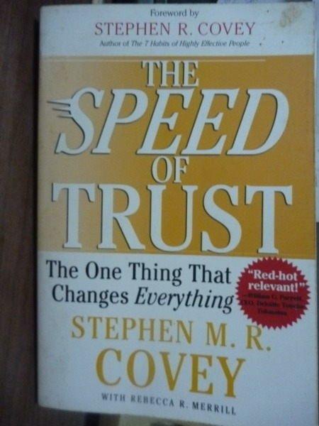 【書寶二手書T5/原文書_PKF】The Speed of Trust_Stephen M.R. Covey