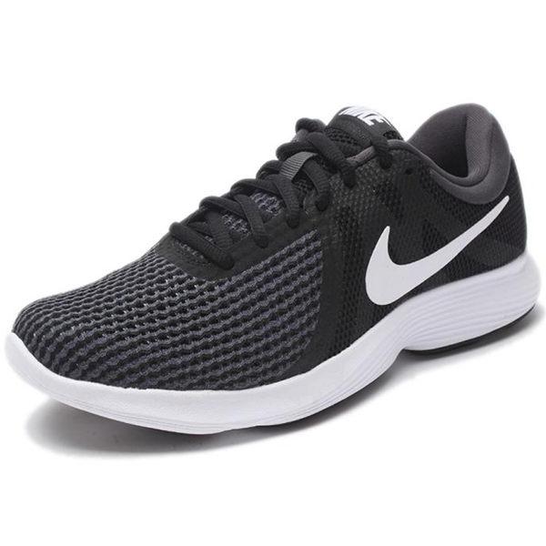 NIKE REVOLUTION 4 女鞋 慢跑 透氣 輕量 網布 黑 白勾 【運動世界】 908999-001