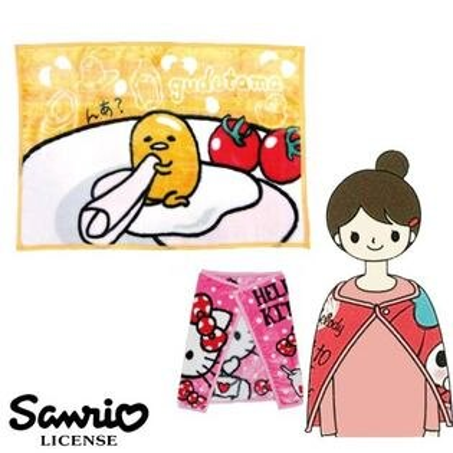sightme看過來購物城:【日本進口正版】蛋黃哥gudetama披毯披肩毛毯毯子小毯子三麗鷗Sanrio-101780