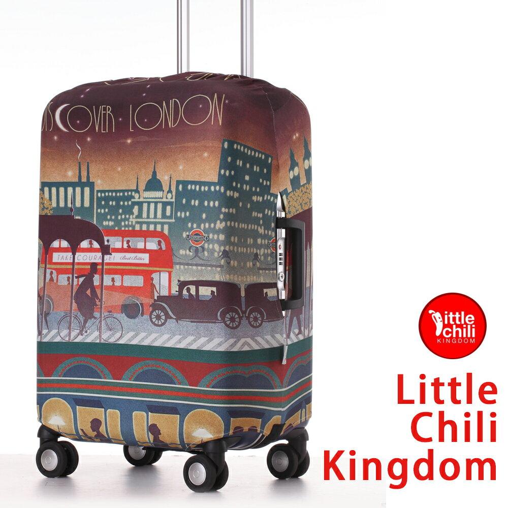 LittleChili行李箱套套532-倫敦彩 M
