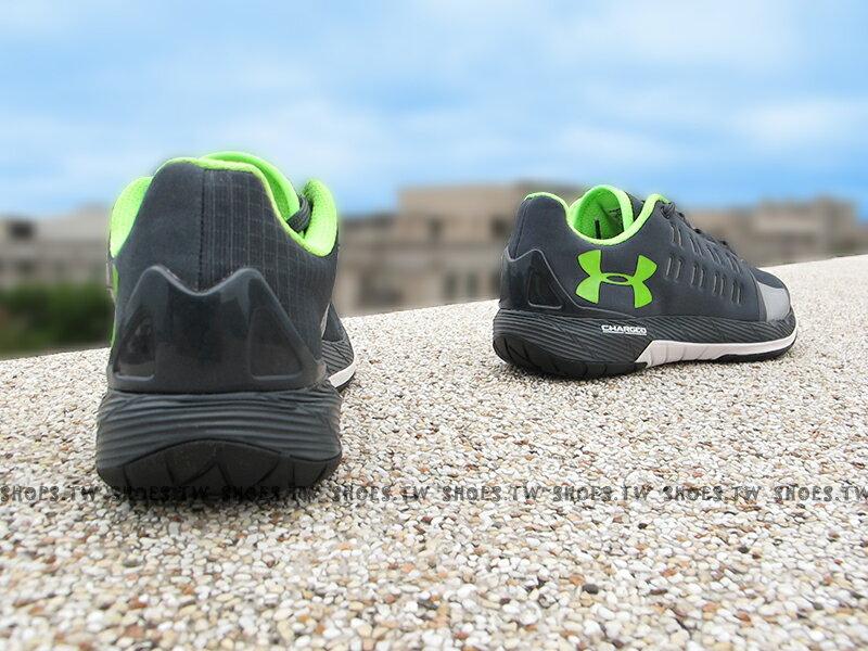 《出清59折》Shoestw【1276524-008】UNDER ARMOUR 慢跑鞋 Charged Core 深灰螢光綠 訓練鞋 男生 2