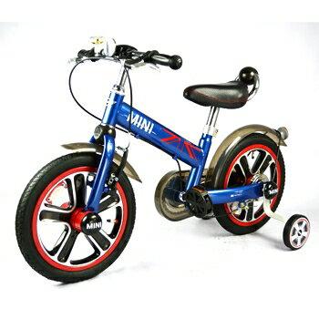 YODEE 優迪嚴選:英國MiniCooper兒童腳踏車14吋-閃電藍
