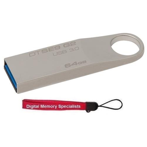Kingston 64GB DataTraveler SE9 G2 64G DTSE9G2 USB 3.0 100MB/s Metal Flash Pen Thumb Drive DTSE9G2/64GB + USB Lanyard 0