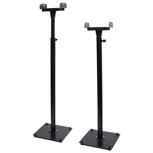 VideoSecu 2 Pack Satellite Surround Sound Speaker Stand Adjustable Side Clamping Heavy Duty Mount 1B5 b07ad64588b097df8ad478163dac843e