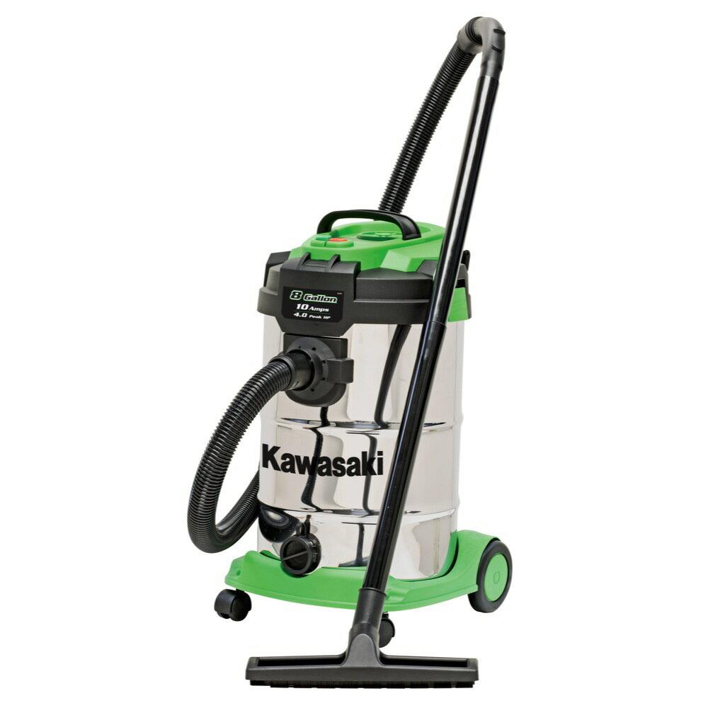 Kawasaki 8 Gallon Quiet Powerful Stainless Wet/Dry Vacuum HEPA filter - 841976 0