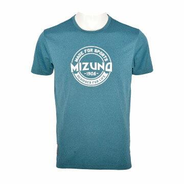 D2TA750132(湖綠) MIZUNO 1906 男休閒短袖T恤【美津濃MIZUNO】