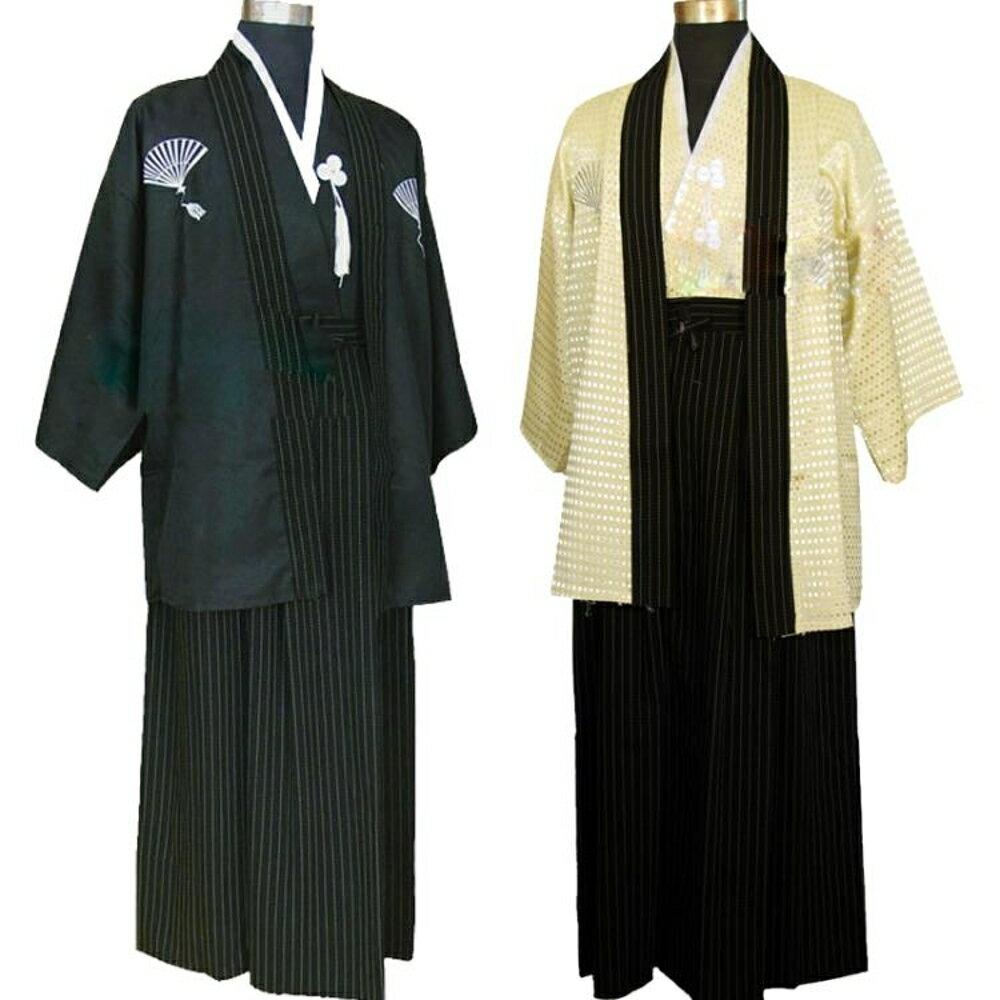 日本和服男士正裝傳統浴袍演出舞台服cos