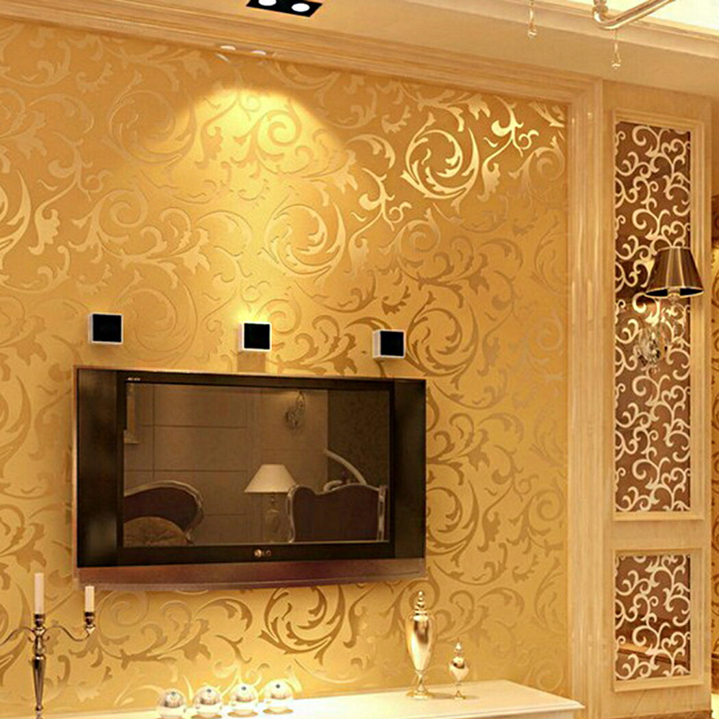 Print Embossed Non-woven 3D Rolls 10m Wallpaper Bedroom Home Wall Decor Wall Sticker 5