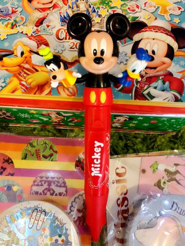 【真愛日本】15111300008 樂園限定胖胖筆-可動手偶米奇 迪士尼 米老鼠米奇 米妮 原子筆 書寫 文具用品