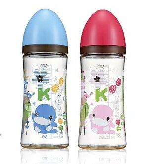 酷咕鴨歐風經典PES寬口奶瓶300ml【德芳保健藥妝】藍 紅 顏色隨機出貨