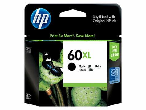 HP CC641WA NO.60號XL 高容量 黑色原廠墨水匣