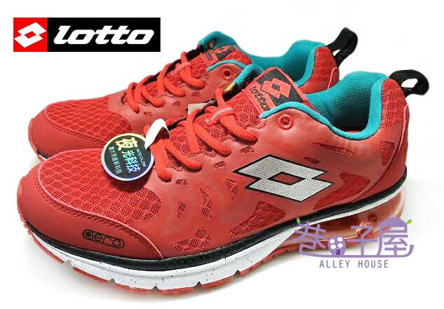 【巷子屋】義大利第一品牌-LOTTO樂得 男款夜光科技翼行者氣墊慢跑鞋 [2512] 紅 超值價$690