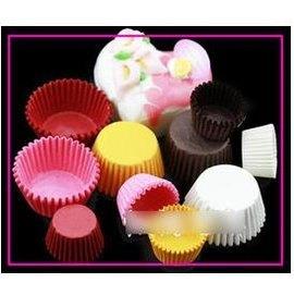 【紙杯托-油紙-單色大號-10包/組】油紙托 紙杯 一次性 巧克力蛋糕托(上口可展開,底徑3.7*高2.5cm)30張/包,10包/組(可混選)-8001006
