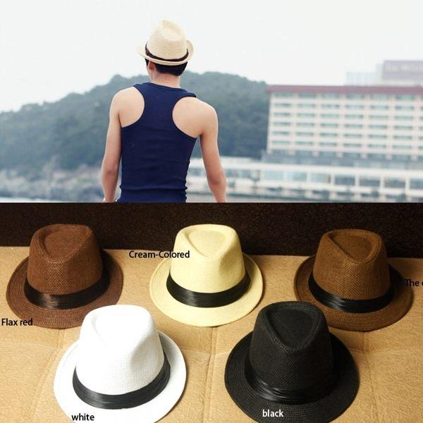 草帽 海邊 紳士帽款 沙灘波西米亞 遮陽帽 防曬綁帶遮陽草帽漁夫帽 帽子 太陽眼鏡 墨鏡