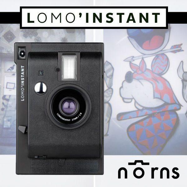 NORNS 【Lomo Instant 拍立得相機 黑色單機】lomography 無限重曝 B快門 四色濾鏡 免運