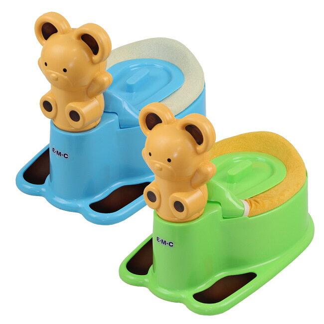 【EMC】 小熊造型寶貝學習便器(兩色可挑選)