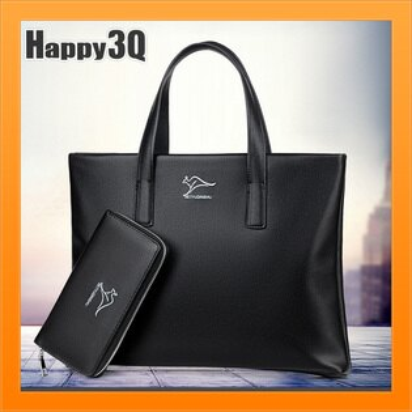 真皮包手提包大容量軟皮包優雅紳士藍領質感斜背包商務通勤-黑棕【AAA4032】