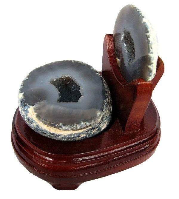 瑪瑙聚寶擺件1.15kg水晶聚寶盆瑪瑙洞