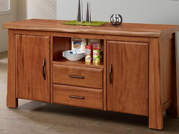 【尚品傢俱】601-36桃花心木雙門二抽實木餐櫃
