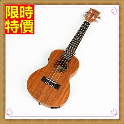 ★烏克麗麗ukulele-電箱版26吋桃花心木合板夏威夷吉他四弦琴弦樂器2款69x13【獨家進口】【米蘭精品】
