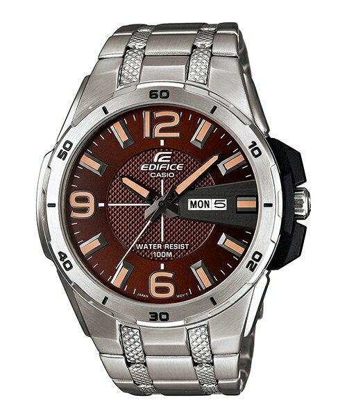 CASIO EDIFICE EFR-104D-5A越野硬漢流運動腕錶/咖啡面45mm