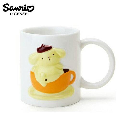 【日本正版】布丁狗 Pom Pom Purin 三麗鷗人物 立體浮雕 馬克杯 290ML 咖啡杯 Sanrio - 013632