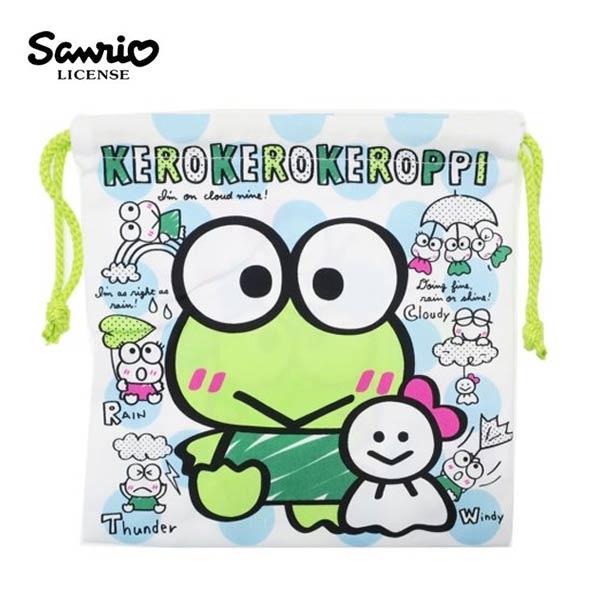 【日本正版】大眼蛙 束口袋 收納袋 抽繩束口袋 三麗鷗 Sanrio - 197896